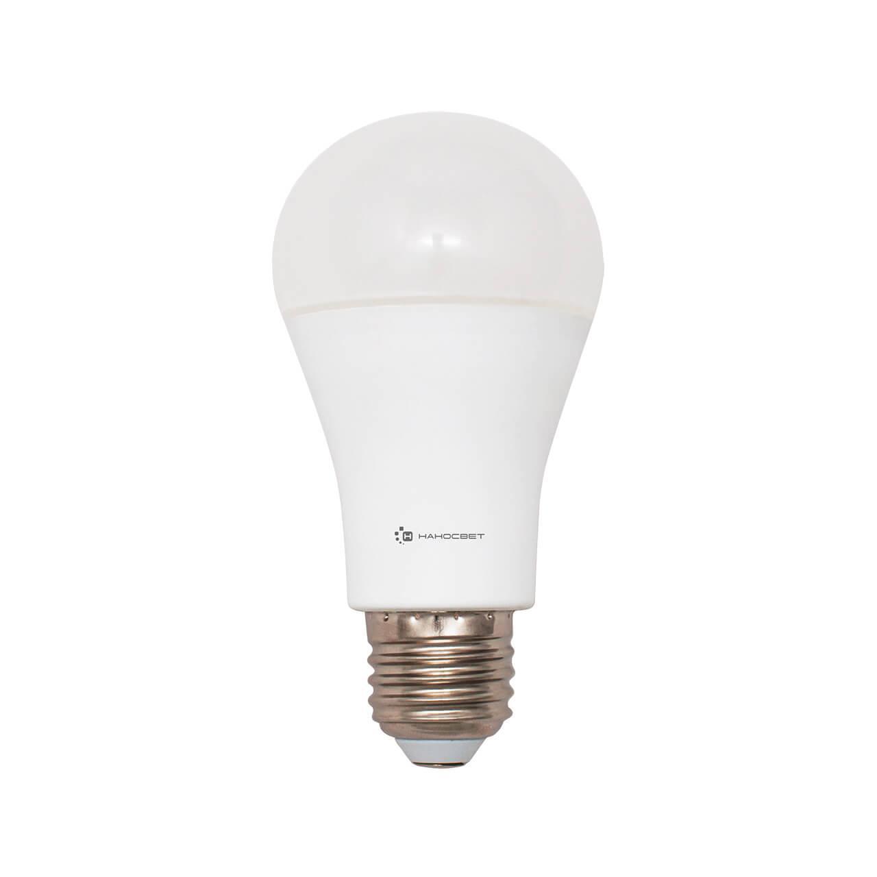 Лампа светодиодная Наносвет E27 18W 4000K груша матовая LC-GLS-18/E27/840 L199
