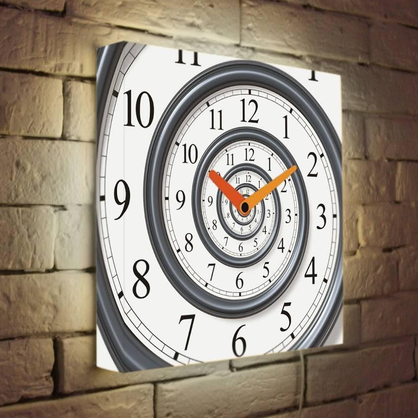 Световые часы Спираль времени LB-033-35