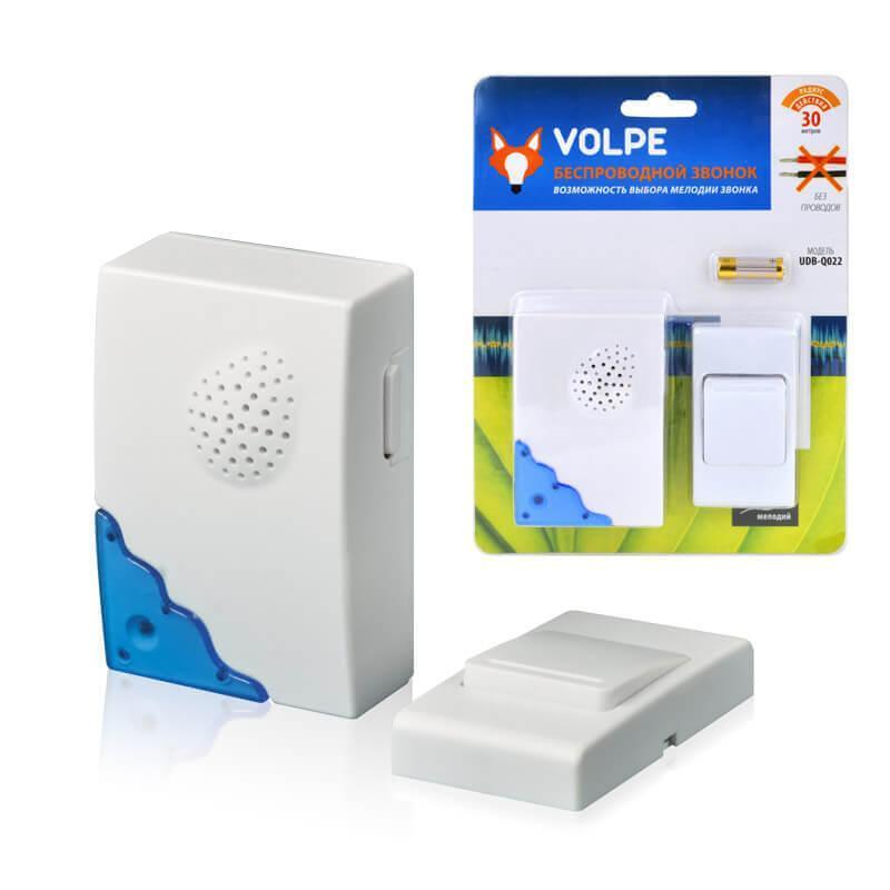 Звонок беспроводной Volpe UDB-Q022 W-R1T1-16S-30M-WH 11015