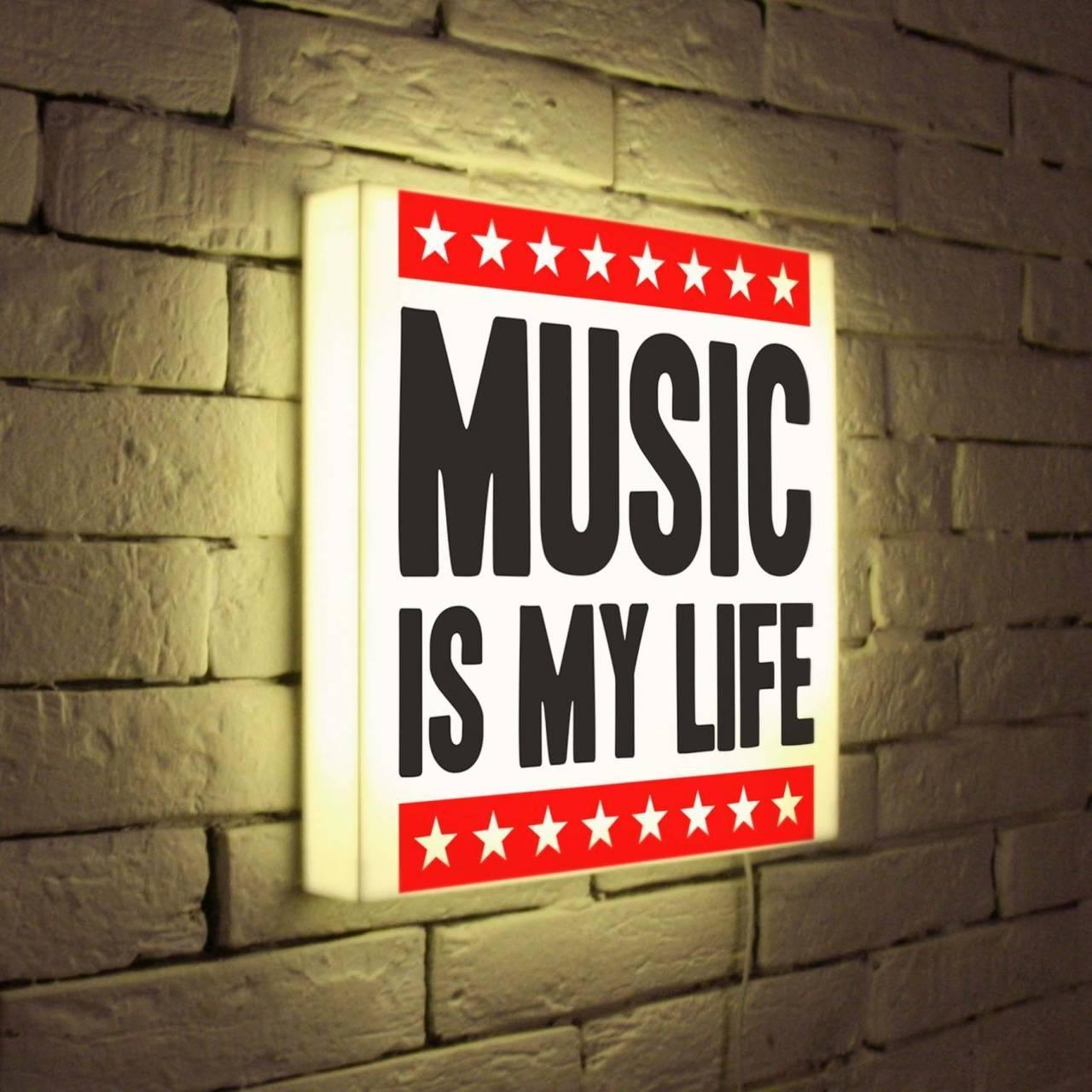 Лайтбокс Music is my life 35x35-072
