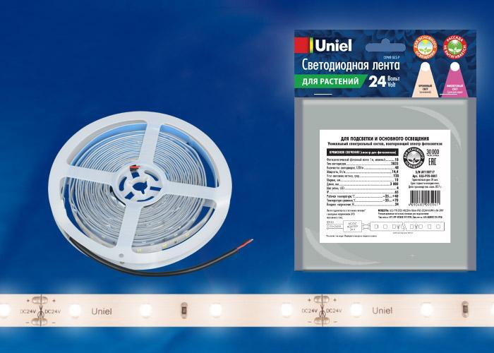 Светодиодная лента (0UL-00002564) белый ULS-P70-2835-48LED/m-10mm-IP65-DC24V-14,4W/m-3M-SPRF