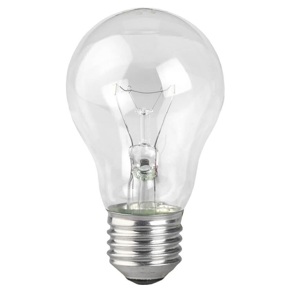 Лампа накаливания ЭРА E27 60W 2700K прозрачная A50 60-230-Е27-CL Б0039122