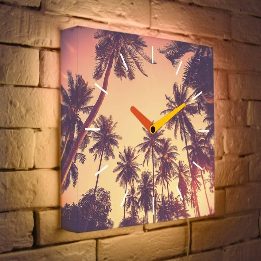 Световые часы Пальмы LB-006-35