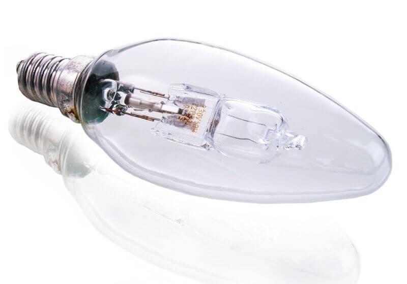 Лампа галогеновая e14 30w 2700k свеча прозрачная 332244