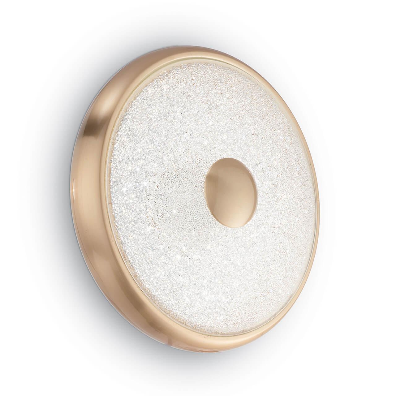 Настенный светодиодный светильник Ideal Lux Rubens AP50 Ottone Satinato