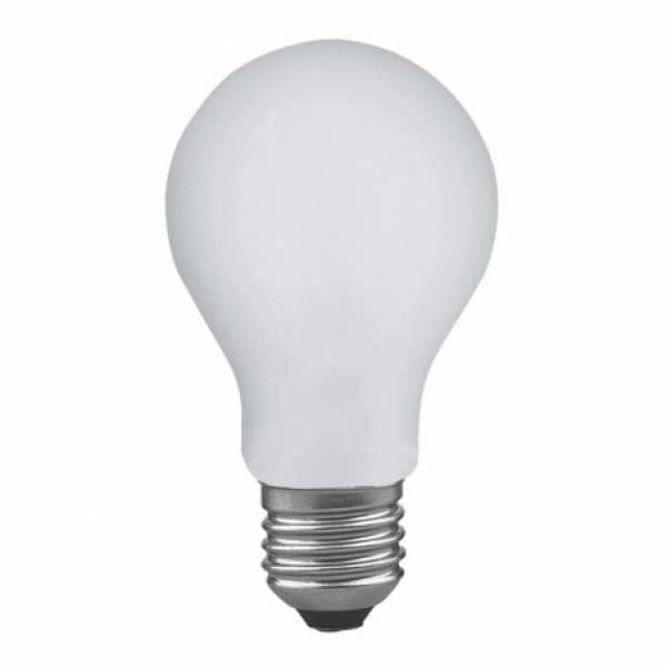 Лампа накаливания диммируемая ударопрочная E27 60W матовая 40019