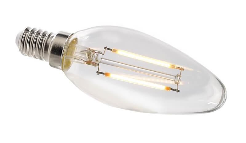 Лампа накаливания e14 2,8w 2700k груша прозрачная 180072