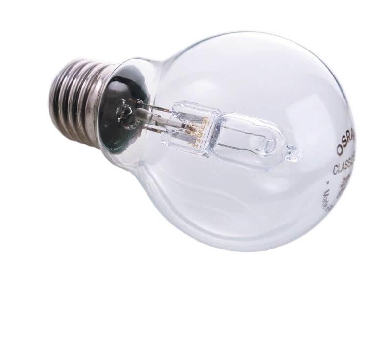 Лампа галогеновая e27 20w 2700k шар прозрачная 332256