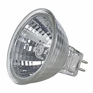 Лампа галогенная GU5.3 35W 2900K полусфера прозрачная 536338