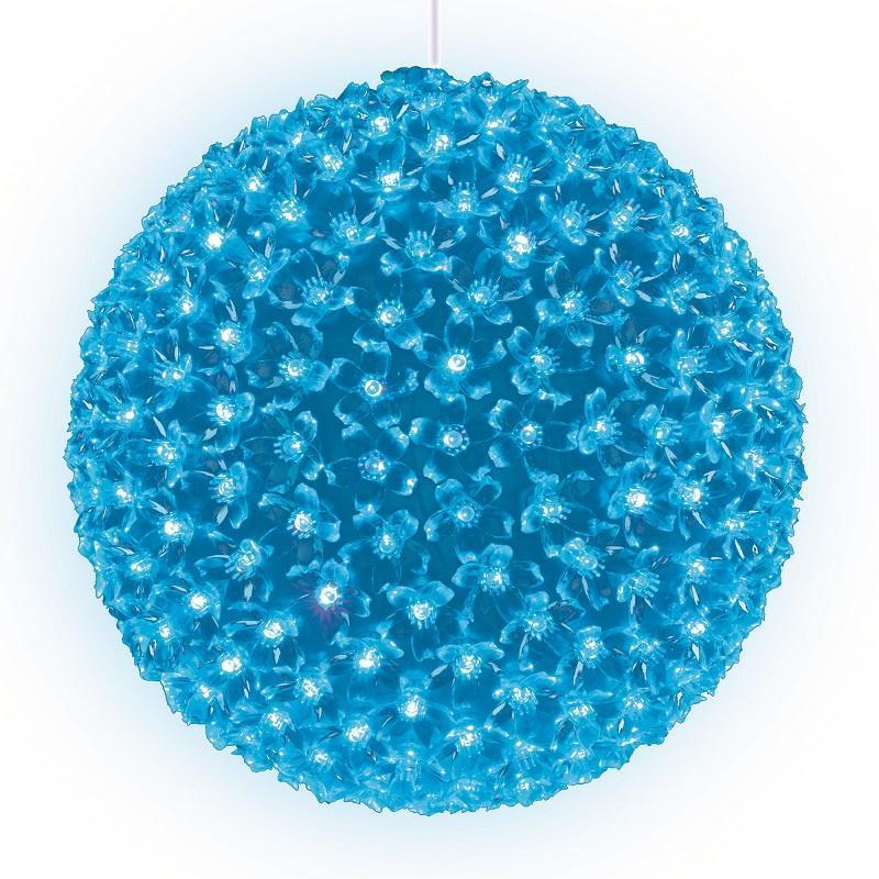 Подвесной светильник «Шар с цветами сакуры» d=27см (09576) ULD-H2727-300/DTA LIGHT BLUE IP20