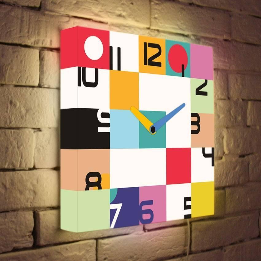 Световые часы Цвет времени LB-019-35