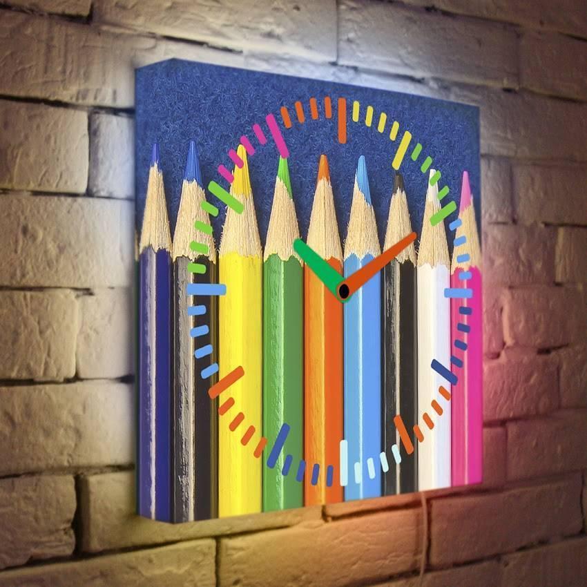 Световые часы Цветные карандаши LB-005-35