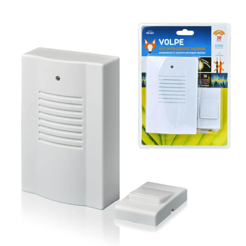 Звонок беспроводной Volpe UDB-Q021 W-R1T1-16S-30M-WH 11014
