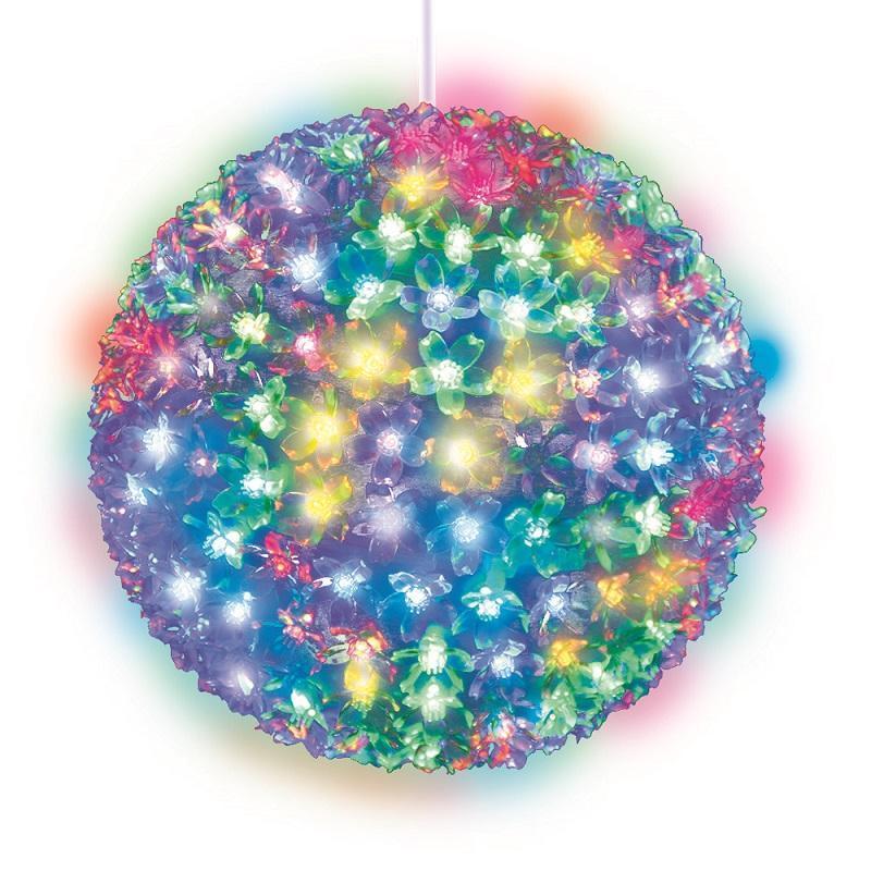 Подвесной светильник «Шар с цветами сакуры» d=21см (09574) ULD-H2121-200/DTA RGB IP20