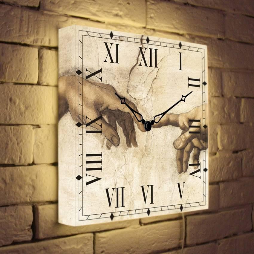 Световые часы Сотворение Адама LB-027-35