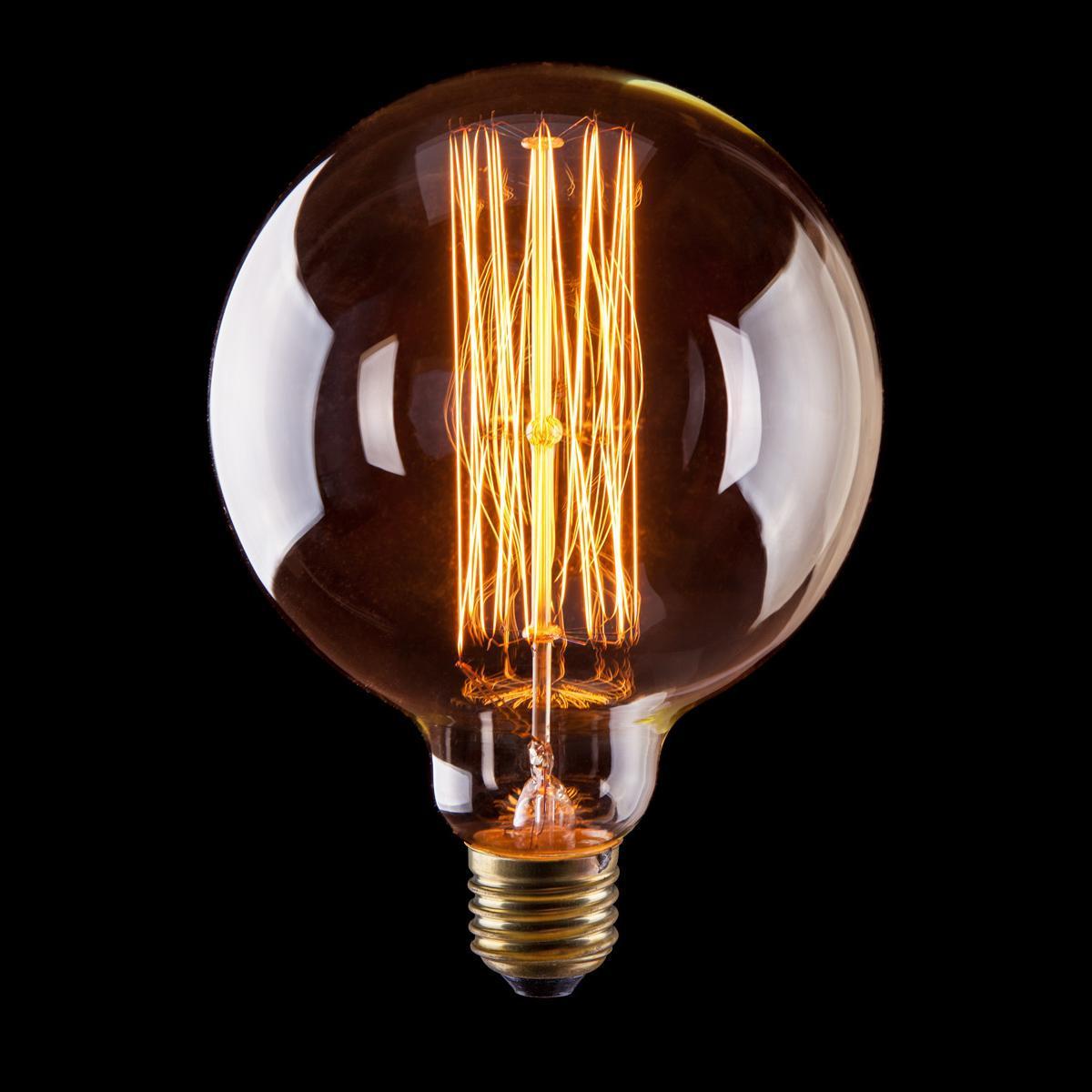 Лампа накаливания E27 40W шар прозрачный VG6-G125A1-40W 6494