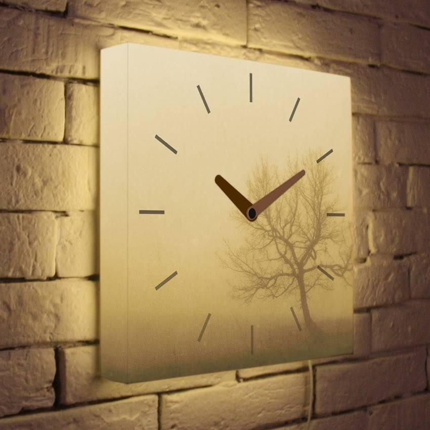 Световые часы Осенний туман LB-001-35