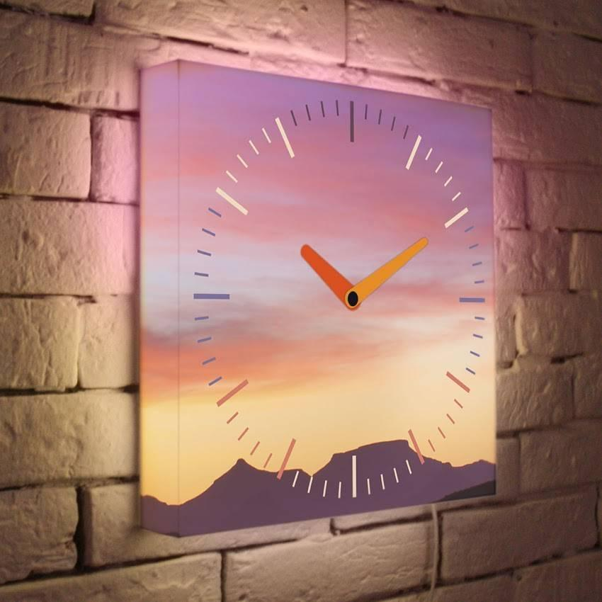 Световые часы Закат LB-004-35