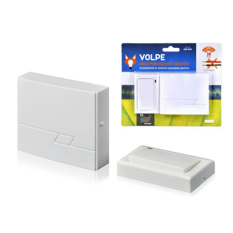 Звонок беспроводной Volpe UDB-Q020 W-R1T1-16S-30M-WH 11013