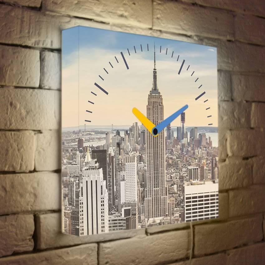 Световые часы Манхеттен LB-002-35