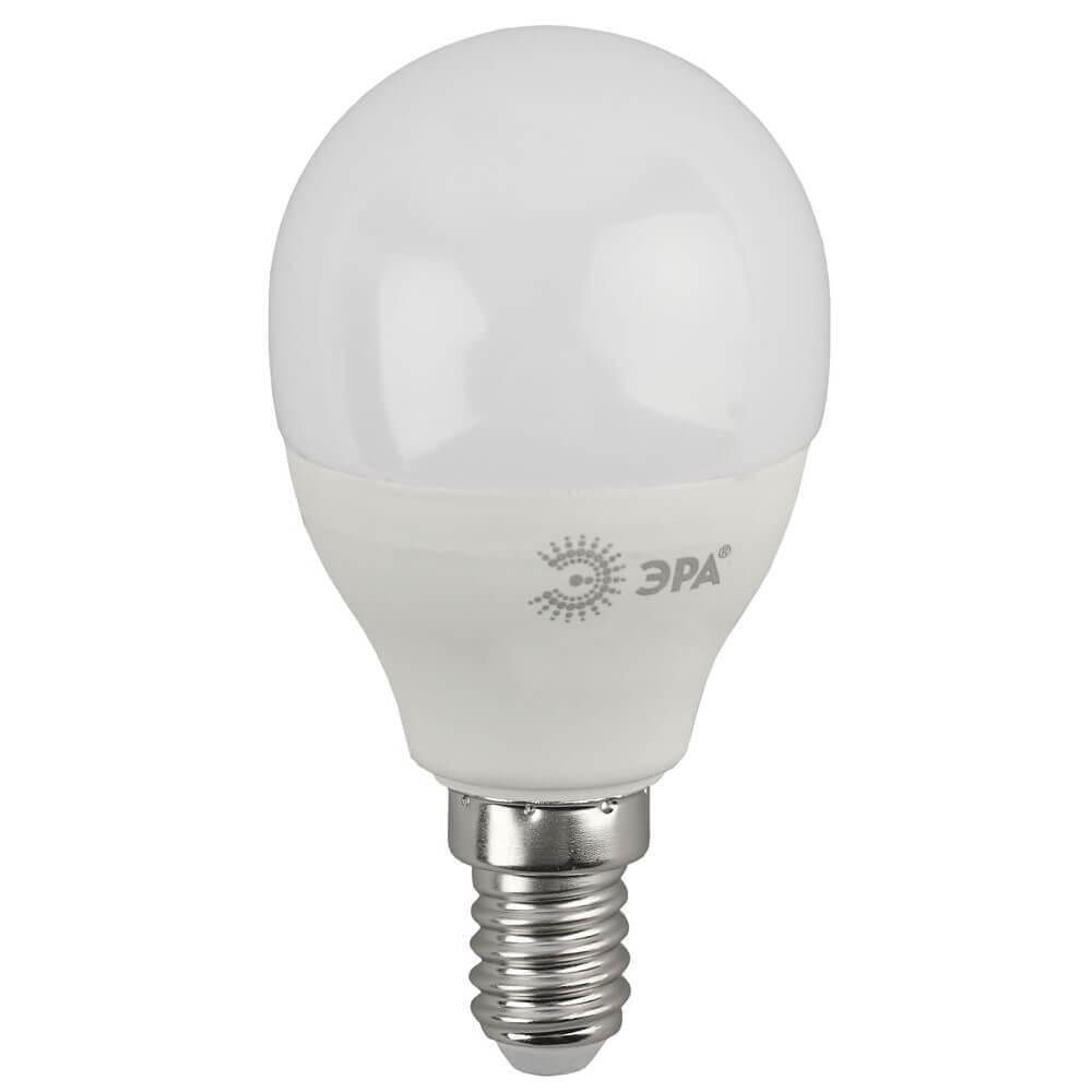 Лампа светодиодная ЭРА E14 10W 2700K матовая ECO LED P45-10W-827-E14 Б0032968
