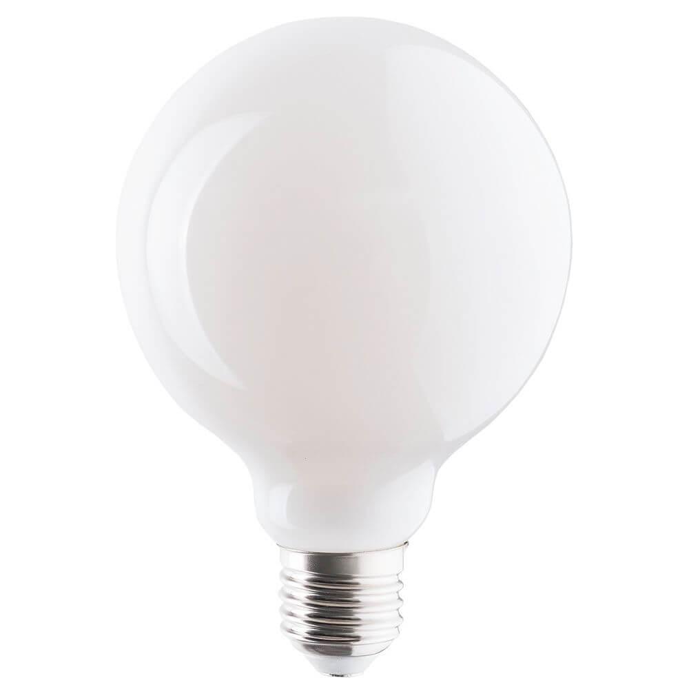 Лампа светодиодная E27 8W 3000K матовая 9177